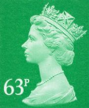 63p Discount GB Postage Stamp